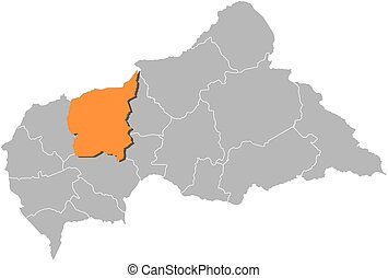 Map - Central African Republic, Ouham - Map of Central...