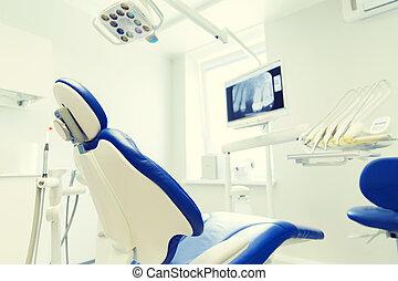 interior of new modern dental clinic office - dentistry,...