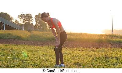 from fitness girls sore leg.