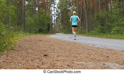 young girl athlete running