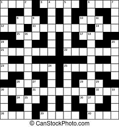 Empty crossword grid, vector