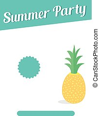 Summer party flyer design