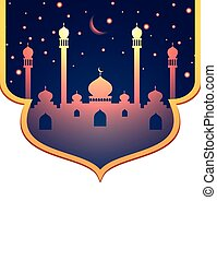 Glowing mosque and stars design