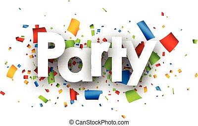Party paper background - Party paper background with color...