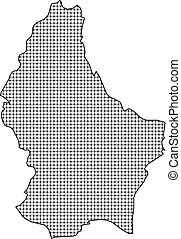 Map - Luxembourg - Map of Luxembourg, shaded.