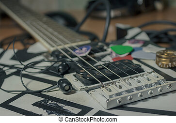The old electric guitar