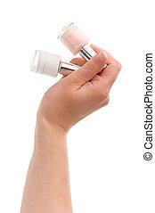 Nail polish - Woman choose the color of nail polish