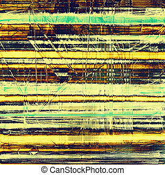 Vintage background in scrap-booking style, faded grunge texture with different color patterns: yellow (beige); brown; blue; green