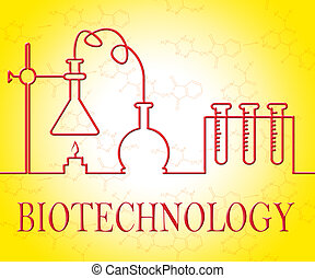 Biotechnology Research Shows Scientist Equipment And...