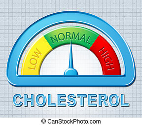 representa,  normal,  ordin, colesterol