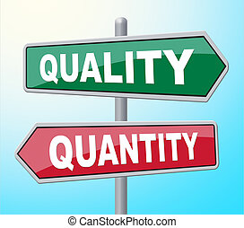 Quality Quantity Indicates Placard - Quality Quantity...