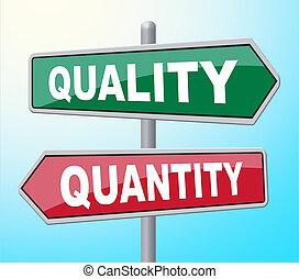 Quality Quantity Indicates Placard - Quality Quantity...