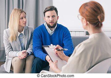 Therapy gives you the opportunity to organize conjugal affection