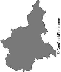 mapa,  piemont,  -,  (italy)