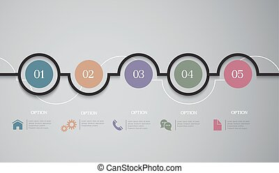 Infographics Options round Banners