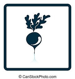 Radishes icon Shadow reflection design Vector illustration...