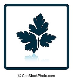 Parsley icon Shadow reflection design Vector illustration