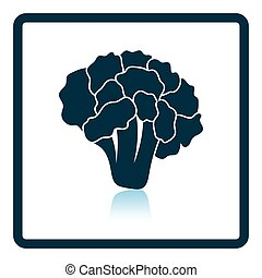Cauliflower icon Shadow reflection design Vector...