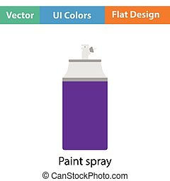Paint spray icon Flat color design Vector illustration