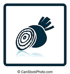 Beetroot icon Shadow reflection design Vector illustration...