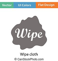 Wipe cloth icon. Flat color design. Vector illustration.