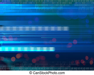 digital background - abstract 3d illustration of blue...