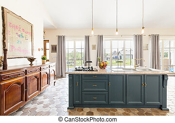 Deluxe kitchen giving sense of openess and space - Vast...