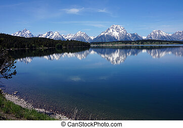 Peak Reflections - Reflections of the Grand Tetons in...