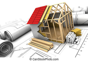 Disegni di casa mockup prefabbricato 3d mockup di for Cianografie a due piani