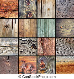 collection of damaged wood textures