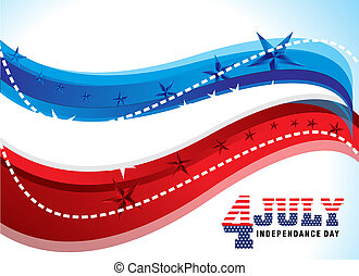 4th of july abstract background vector illustration