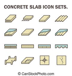 Concrete slab icon - Concrete slab vector icon sets design
