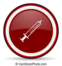 medicine round glossy icon, modern design web element