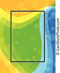 Brazil flag colors background design