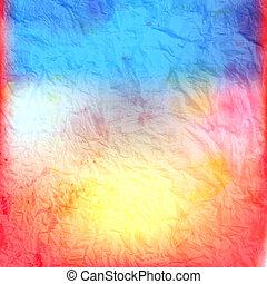 Retro watercolor background - Beautiful retro colorful...