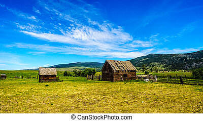 Old Farm Buildings in Nicola Valley - Old Farm Buildings in...