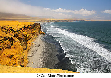 Supay Beach in Paracas National Reserve, Peru Main purpose...