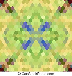 Kaleidoscopic low poly hexagon style vector mosaic...