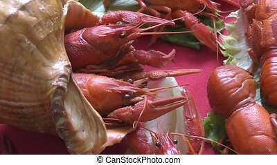 Boiled crawfish with beer - Boiled crayfish a good snack to...