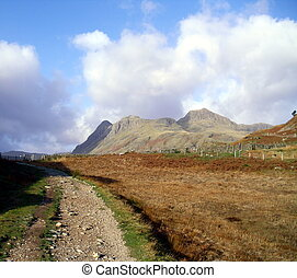 Langdale in Cumbria, England - Langdale in The English Lake...