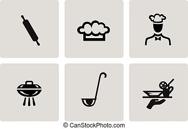 Cooking and kitchen icons - Cooking and kitchen icon set in...