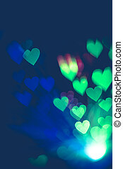Colorful Heartshaped Bokeh - Bokeh in a shape of a heart...