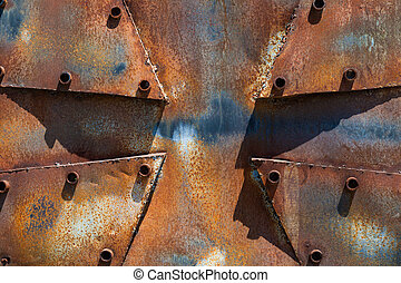 Rusty metal cross background