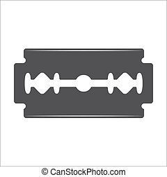 Razor blade illustration - Razor blade vector isolated on a...