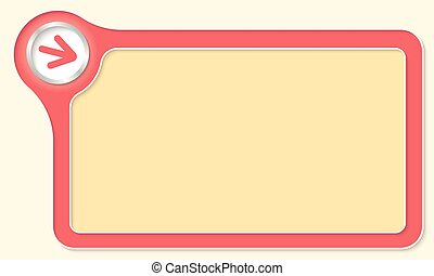 Vector frame for your text and arrow