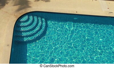 Swimming Pool From Top View - Blue Swimming Pool Without...