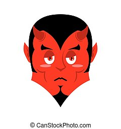 Sad Satan. Sorrowful red devil. Pessimistic demon. Pitiful...