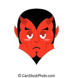 Sad Satan. Sorrowful red devil. Pessimistic demon. Pitiful...