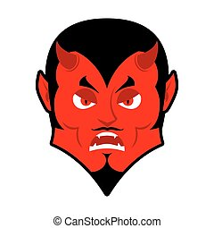 Evil Devil. Angered by Satan. Red Demon furious. Angry...