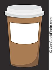 Plastic coffee cup with hot .